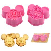 Set Cetakan Nasi / Roti / Kue Motif Mickey dan Minnie (1 Set Isi 2)