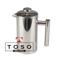 Double Wall Coffee Plunger Stainless French Press Coffee Tea Pot 350ml