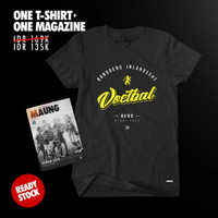 COMBINE PACKAGE Simamaung Tshirt BIVB LOGO + Majalah Maung #8