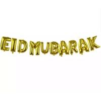Balon Foil Huruf EID MUBARAK set