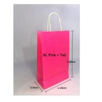 Paperbag SOS XL 20x9x29cm Pink + Tali