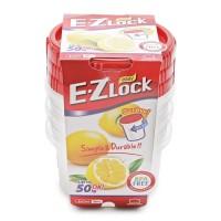 Lock&Lock Food Container EZ Lock - 460ml x 3Pcs (HLE9604S)