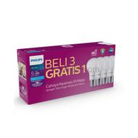 Paket 3 Gratis 1 Lampu LED Bulb Philips Multipack MyCare 6 Watt 6W