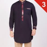 Baju koko gamis pria Pakistan dan kurta Pakistan List Batik Abstrak