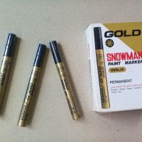 Spidol Snowman Permanent Paint Marker Gold GP-12