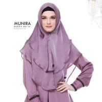 Khimar Syari Satin Silk Premium 2 Layer Pet Antem ORI Munira MB 36