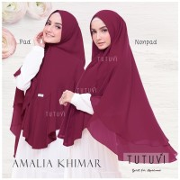 Khimar Syari Ceruty Double Layer Soft pad-Non pad ORI Tutuvi Hijab