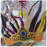 Topi Kepala Bulu Hiasan Kreasi Adat Dayak Papua nusantara tari tarian