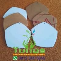 HOT SALE Bahan medali acrylic segilima untuk wisuda 2mm uk 7x7cm