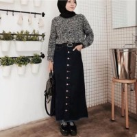 SPECIAL Pedro Long Button Skirt Jeans ROK PANJANG JEANS LIMITED EDITI