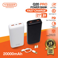 Power Bank VEGER Ultimate Q20 Pro 20000mAh Quick Charge 3.0 PD Type C