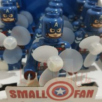hand fan / kipas tangan manual avengers kapten Amerika / lego