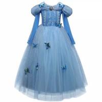 dress anak/baju princess/kostum anak perempuan Cinderella