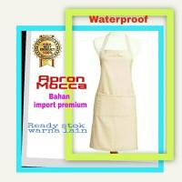 Apron / Celemek Mocca Bahan Import Premium Waterproof