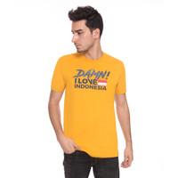 DAMN! I LOVE INDONESIA KAOS PRIA DECONSTRUCTION MUSTARD