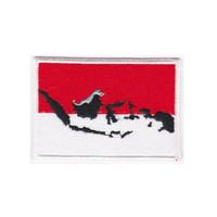 Bordir Indonesia Flag Jahit Bisa Buat Jaket Go jek , Grab dan Uber DLL