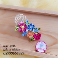 jepit rambut wisuda bunga handmade