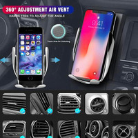Car holder wireless fast charging auto open magic smart sensor iphone