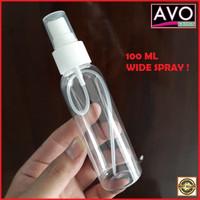 botol spray 100 ml plastik serbaguna clear white bottle parfum pupuk