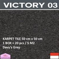 VICTORY 3-Karpet Tile/Lantai/Kantor 50 cm x 50 cm isi 20 pc/box DG-NMs