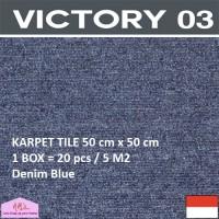 VICTORY 3-Karpet Tile/Lantai/Kantor 50 cm x 50 cm isi 20 pc/box DB-NMs