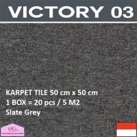 VICTORY 3-Karpet Tile/Lantai/Kantor 50 cm x 50 cm isi 20 pc/box SG-NMs