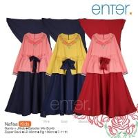 nafisa kids /set gamis anak 7-11 tahun by Enter