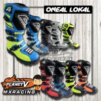Sepatu CROSS ONEAL Hitam Stabilo/ MX / TRAIL lokal bukan Fox Alpine