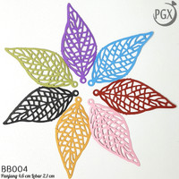 Daun - Bahan Bros Dagu Juntai Handmade Aksesoris Hijab - BB004