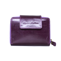 Dompet Kulit Wanita Mini Mom Purple