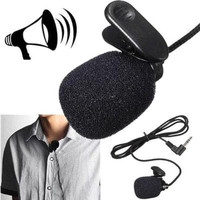 Clip On Mic Microphone 3.5mm For Smartphone / PC