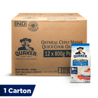 Quaker Quick Cooking Oatmeal Large Pack 800g [1 Carton - 12 Pcs]