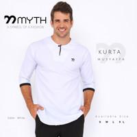 MYTH/ Baju Kurta Putih/ Koko Polos/ Gamis/ Baju Muslim/ Kemeja SlimFit