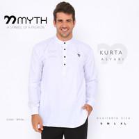 MYTH/ Kurta/ Sogket/ Kemeja/ Gamis/ Koko/ Slimfit/ Baju Muslim/ Putih