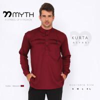MYTH/ Kurta/ Gamis Panjang/ Koko/ Pakaian Muslim Pria/ Kemeja Slimfit