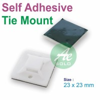 Tie Mount Fsm-25X25 Self Adhesive Cable Tie Mount Hijau