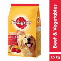 [Hot Bundle] Pedigree Dry 1.5kg Beef & Veg + Dentastix 344gr