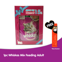 1 Whiskas Mix Feeding Adult + Free 1 Sheba Melty
