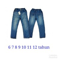 Celana Panjang Jeans Anak Laki Laki Perempuan tanggung