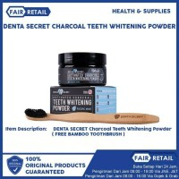 DENTA SECRET CHARCOAL TEETH WHITENING POWDER ( FREE SIKAT CHARCOAL )