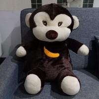 Boneka timezone besar 1700gr monkey monyet coklat lucu kado hadiah