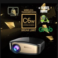 Cheerlux C6 Wireless Proyektor Projector WIFI 1200 ANSI Lumens + HDMI