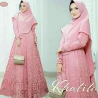 baju gamis brokat no hijab pakaian baju pesta lebaran