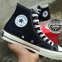 Sepatu Converse CT 70s Zip Hi Black White Original