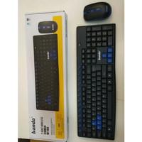 JN Mouse Keyboard Wireless Banda W 400