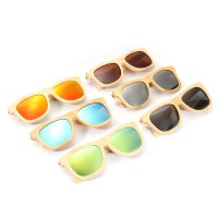 top AZB Handmade Unisex Polarized Sunglasses Bamboo Wood Frame
