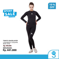 Tiento Baselayer Manset Sport Wanita Celana Legging Black Women 1 Stel