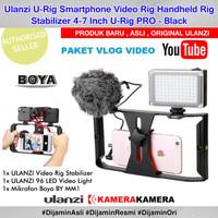 PAKET VLOG SMARTPHONE Lengkap Ulanzi U Rig Mic Boya 96LED Lampu Studio