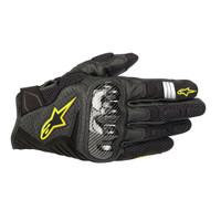 Alpinestars SMX1 Air V2 Carbon Gloves Black Yellow Sarung Tangan