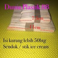 Isi +-50PC SENDOK / STIK stick gagang KAYU ice es cream crem crim krim
